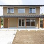 シンメトリーな外観の長期優良住宅